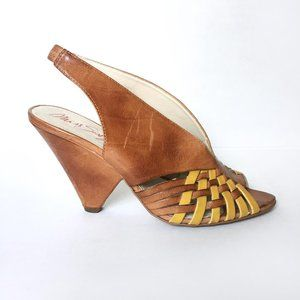Miss Sixty Caila Boho Slingback Leather Heel